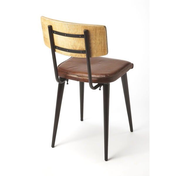 Brown 32-Inch Side Chair, image 2