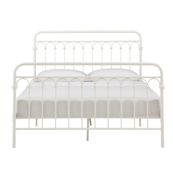 Isobel White Queen Metal Arches Platform Bed, image 2
