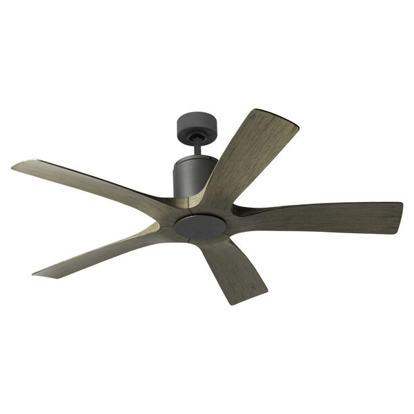 Aviator Graphite and Weathered Gray 54-Inch ADA LED Ceiling Fan, image 1