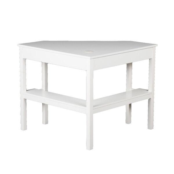 White Corner Computer Desk, image 5
