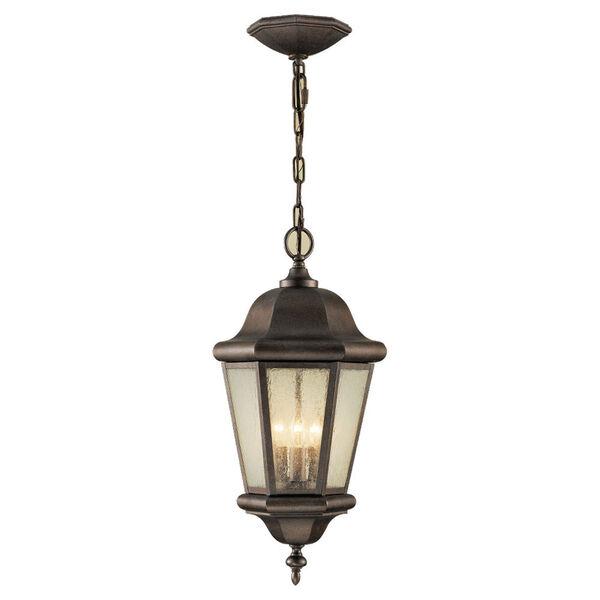 Martinsville Corinthian Bronze Three-Light Outdoor Pendant, image 1