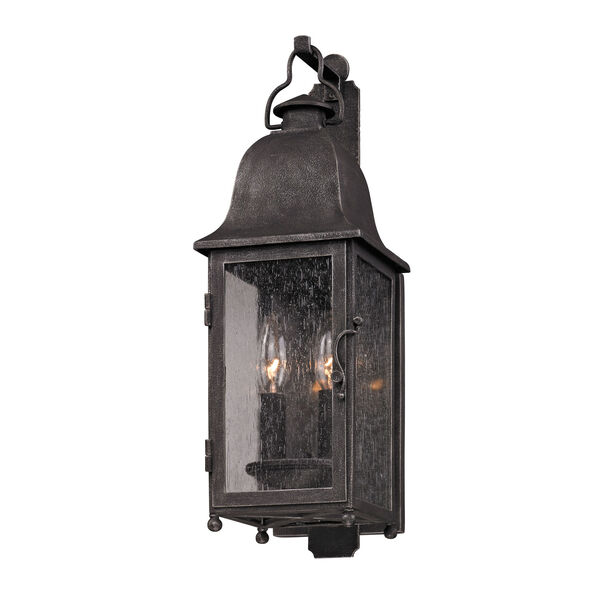 Aged Pewter Larchmont Two-Light Wall Mount, image 1