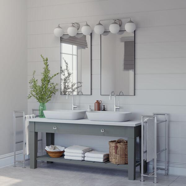 Hepburn Brushed Nickel Three-Light Bath Vanity, image 2