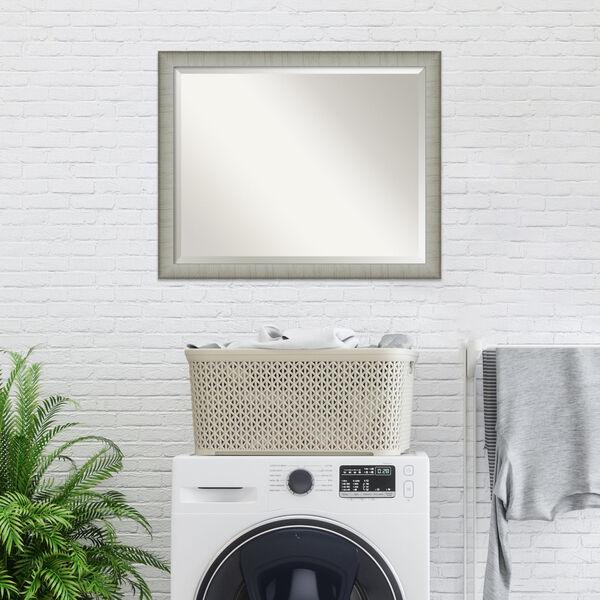 Elegant Pewter 31W X 25H-Inch Bathroom Vanity Wall Mirror, image 5