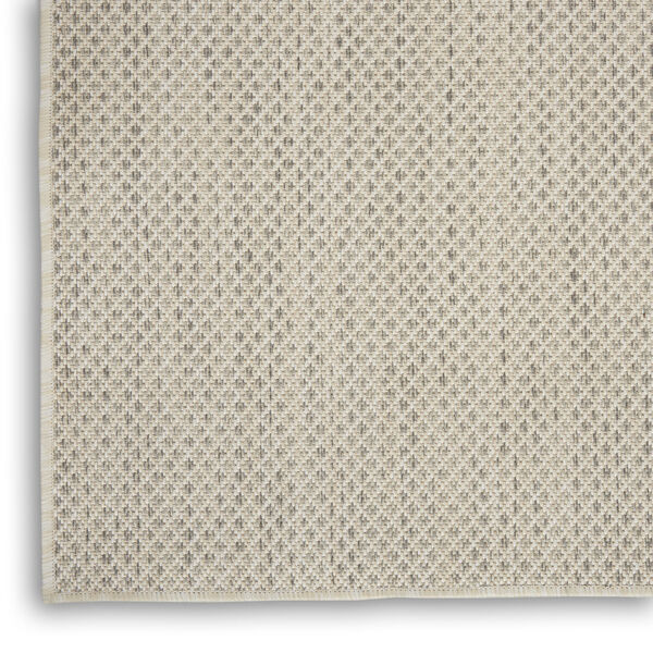 Courtyard Ivory and Silver 4 Ft. x 6 Ft. Rectangle Indoor/Outdoor Area Rug, image 5