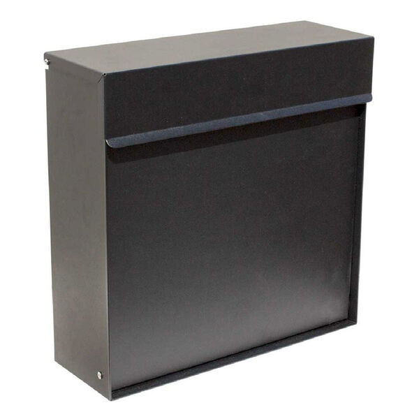 Covina Locking Mailbox Black - (Open Box), image 1
