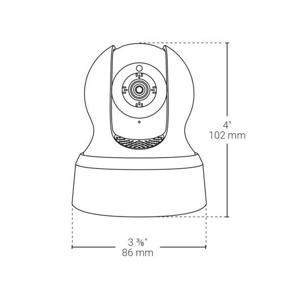 White Smart Wi-Fi Condo Alarm Kit with 720p Camera, image 3