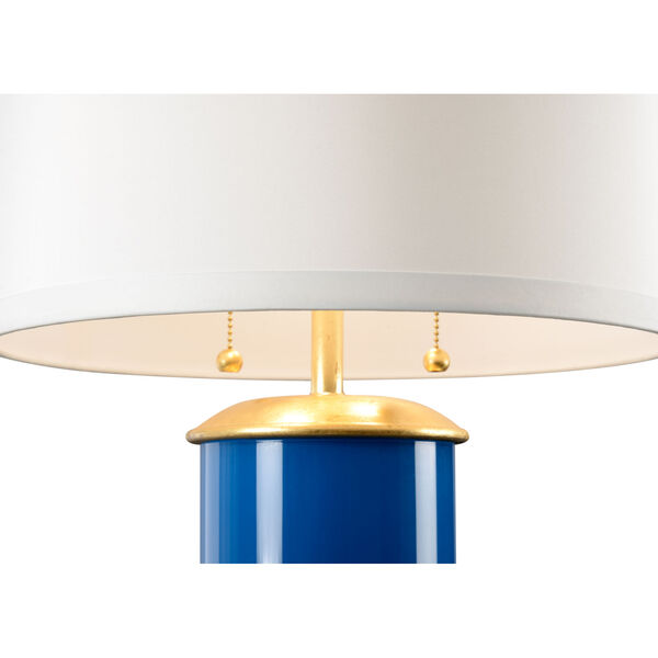 Savannah Blue, Gold and White Two-Light Table Lamp, image 2