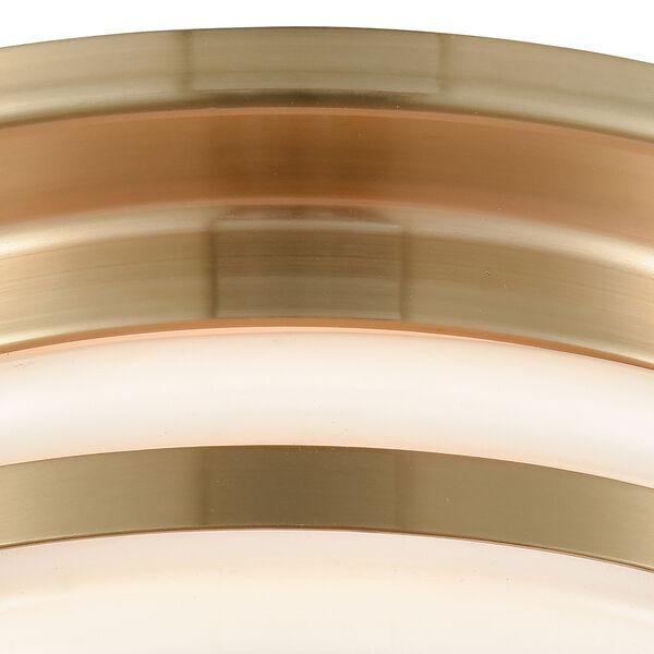 Riley Satin Brass Two-Light Flush Mount, image 5