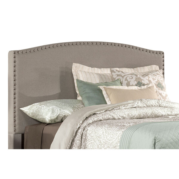 Kerstein Dove Gray Fabric King Headboard Only, image 2