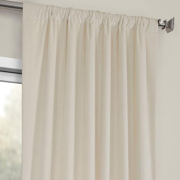 Ivory Heritage Plush Velvet Curtain Single Panel, image 3
