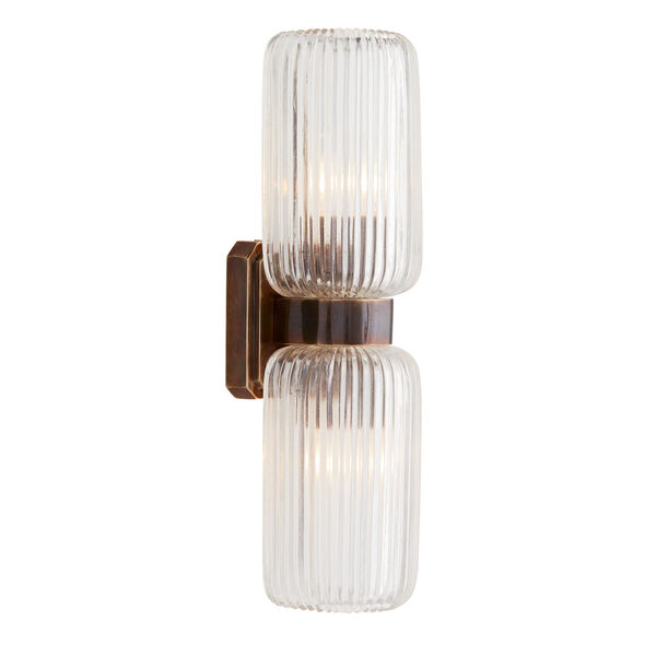 Tamber Heritage Brass Two-Light Wall Sconce, image 6