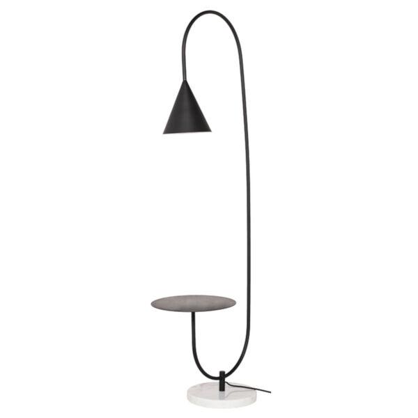 Arnold Matte Black One-Light Floor Lamp, image 1