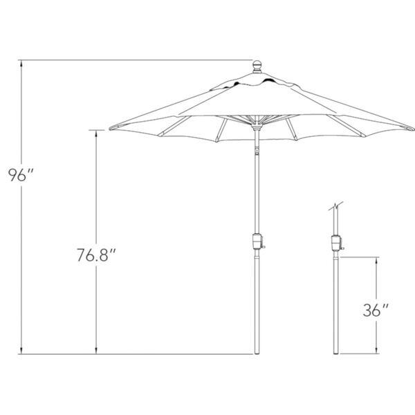 Catalina Forest Green 90-Inch  Market Umbrella, image 2
