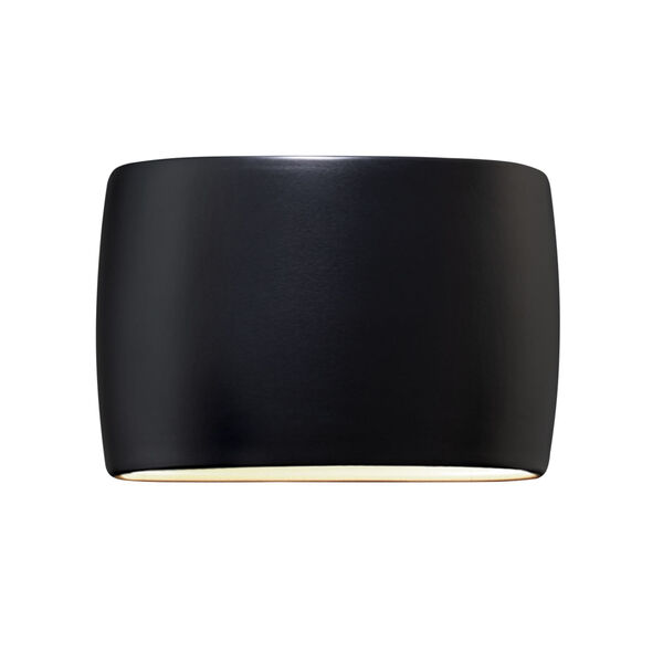 Ambiance Carbon Matte Black 16-Inch Two-Light Wide ADA Closed Top GU24 LED Oval Outdoor Wall Sconce, image 1