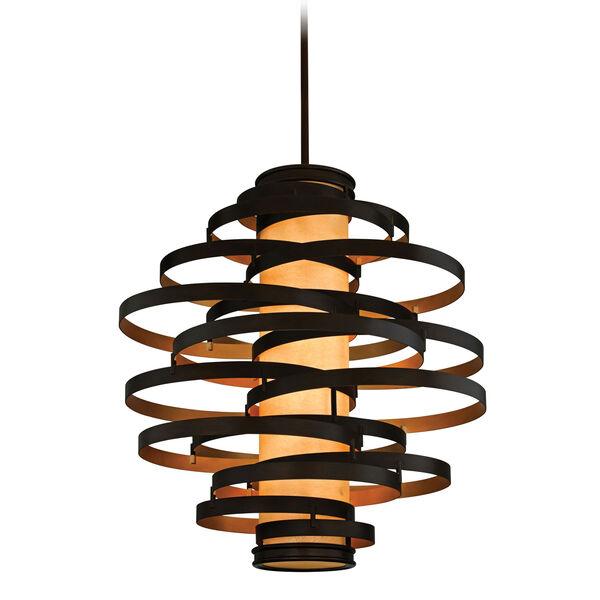 Vertigo Six-Light Bronze with Gold Leaf Six-Light Pendant, image 1