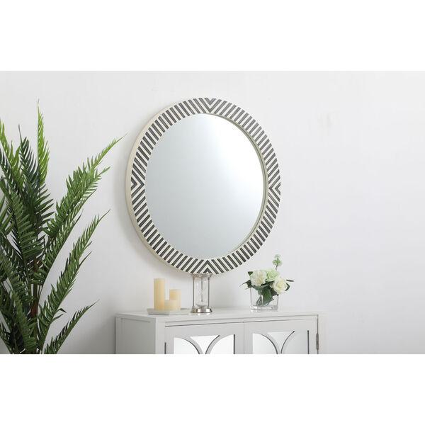 Colette Chevron 32-Inch Round Mirror, image 3