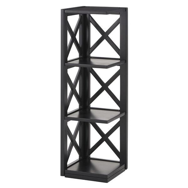 Tanya Black X-Frame Three-Shelve Bookcase, image 1