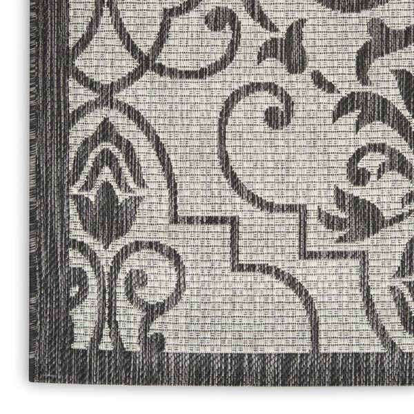 Garden Party Ivory and Charcoal 2 Ft. 2 In. x 7 Ft. 6 In. Indoor/Outdoor Runner Rug, image 5