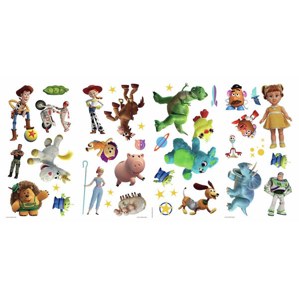Toy Story 4 Green, Blue, Yellow Peel and Stick wall Decal - SAMPLE SWATCH ONLY, image 2