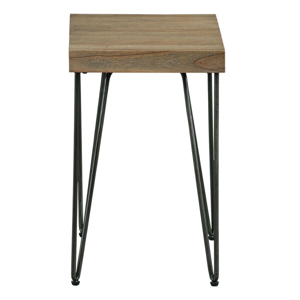 Everett Natural Rectangular Chairside Table, image 2
