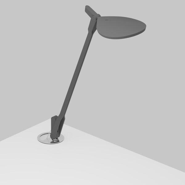 Splitty Matte Grey LED Desk Lamp with Grommet Mount, image 1