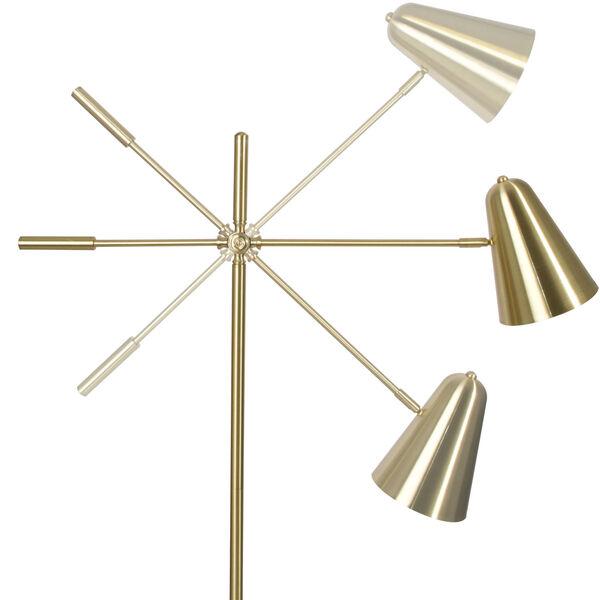 Archer Satin Brass LED Floor Lamp, image 3