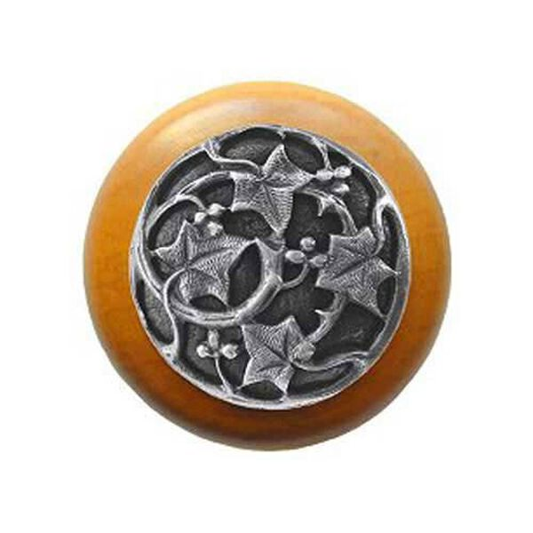 Maple Ivy Knob with Antique Pewter, image 1