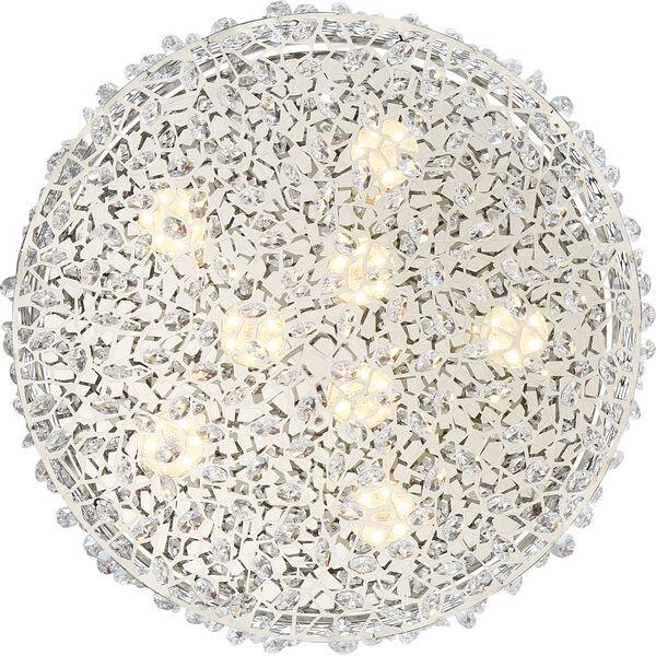 Platinum Collection Starlet Polished Chrome LED Flush Mount, image 4