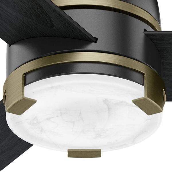 Bureau Matte Black and Modern Brass 60-Inch One-Light LED Adjustable Ceiling Fan, image 3
