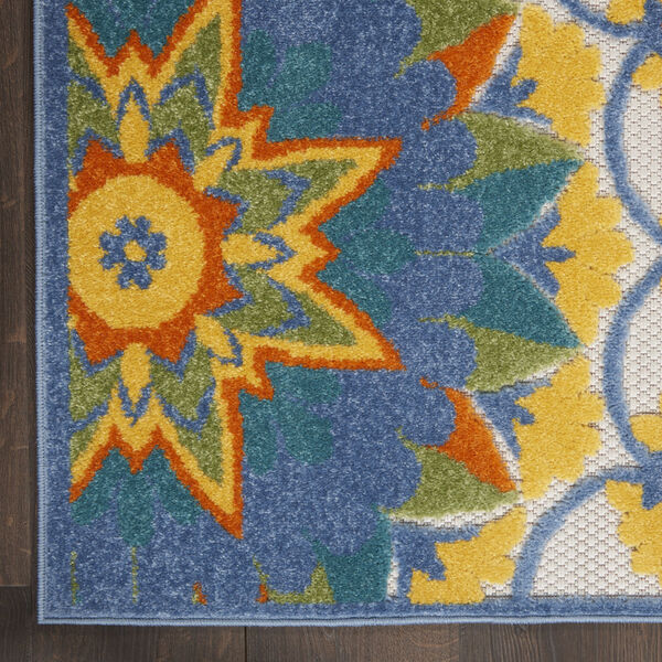 Aloha Blue and Yellow Indoor/Outdoor Area Rug, image 4