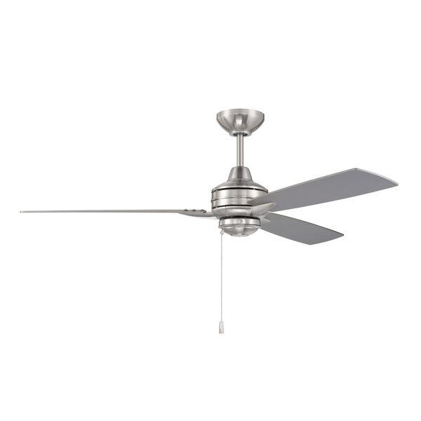 Moto Brushed Polished Nickel 52-Inch Ceiling Fan, image 1