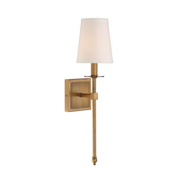 Monroe Warm Brass One-Light 20-Inch Sconce, image 1
