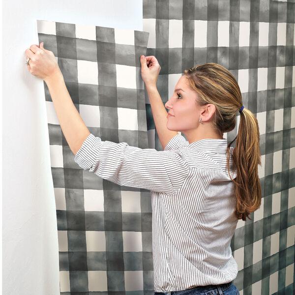 Watercolor Check Removable Wallpaper, image 8