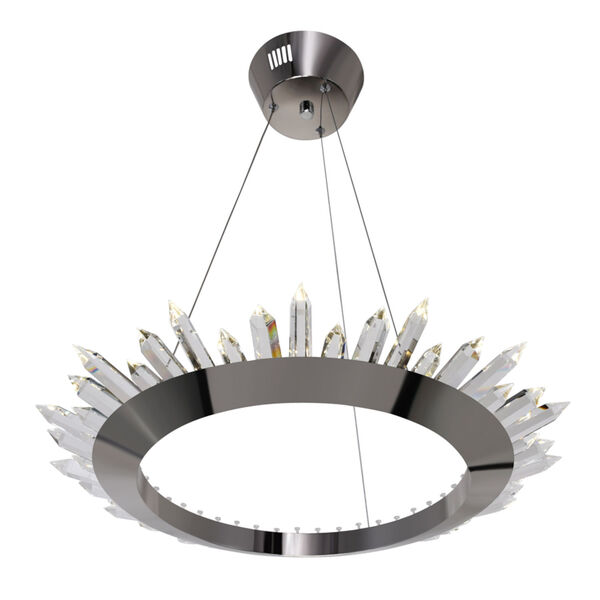 Arctic Queen Polished Nickel 24-Inch LED Chandelier, image 3