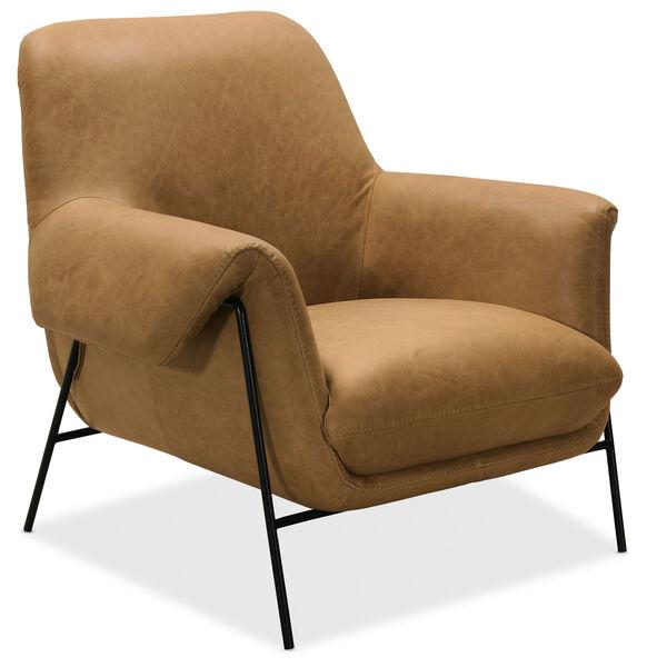 Brown Ambroise Metal Frame Club Chair, image 4