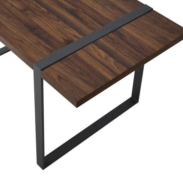 Urban Blend Dark Walnut and Black Dining Table, image 5