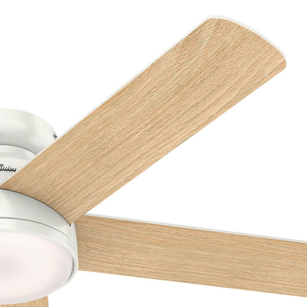 Romulus Low Profile Fresh White 54-Inch Smart LED Ceiling Fan, image 4