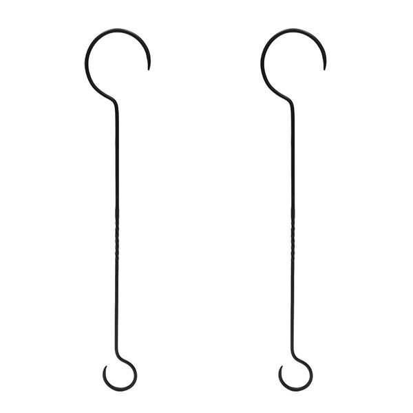 Black Powdercoat 30-Inch Extender with Twist, Set of Two, image 1
