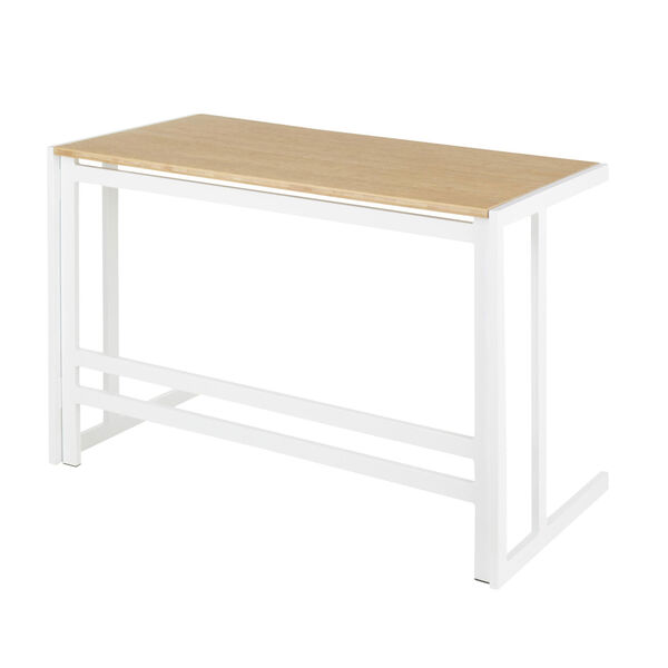 Roman White and Natural 45-Inch office Desk, image 3