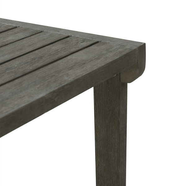 Renaissance Grey Outdoor Wood Side Table, image 4
