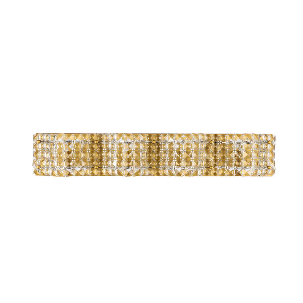 Ollie Brass Four-Light Bath Vanity with Clear Crystals, image 3