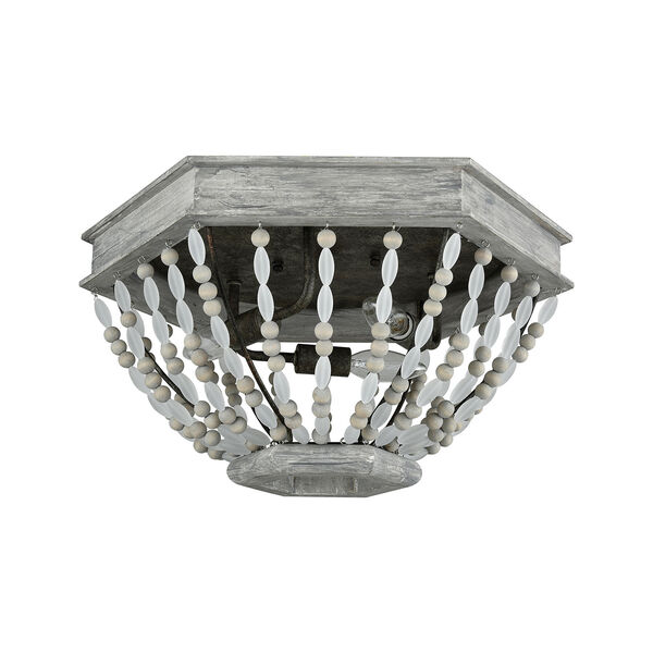 Summerton Washed Gray and Malted Rust Three-Light Flush Mount, image 5