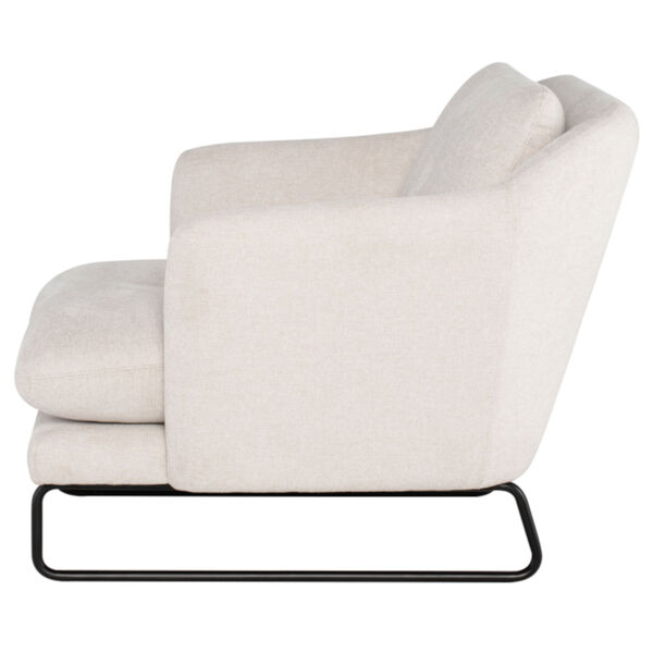 Frankie Parchment and Black Occasional Chair, image 3