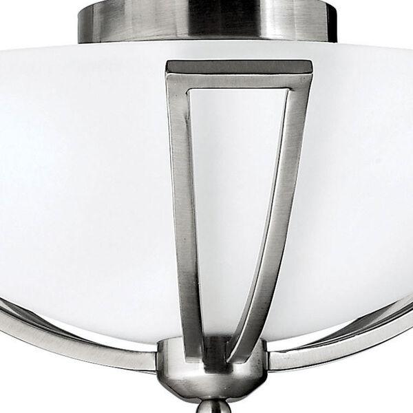 Bolla Brushed Nickel Flush Mount Ceiling Light, image 2