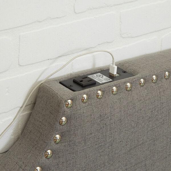 Cypress Headboard in Light Grey, Twin, image 3