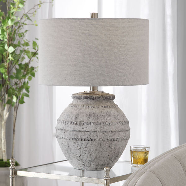 Montsant Ivory and Brushed Nickel Table Lamp, image 2
