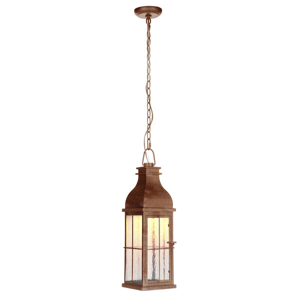 Vincent Weathered Copper LED Outdoor Pendant, image 2