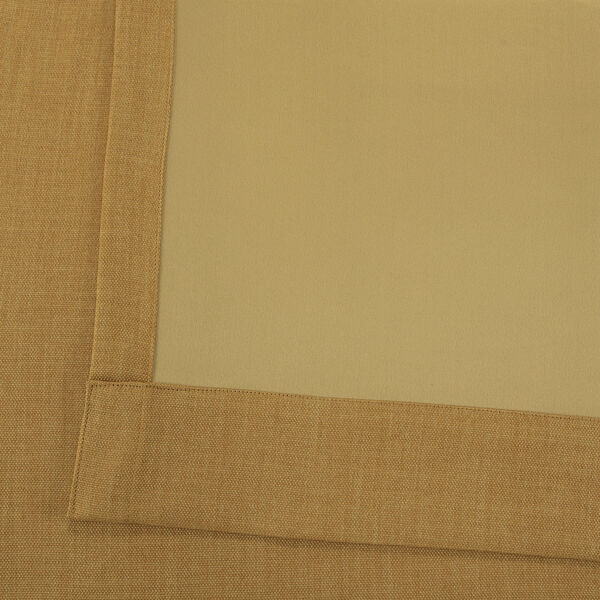 Gold 108 x 50-Inch Polyester Blackout Curtain Single Panel, image 5