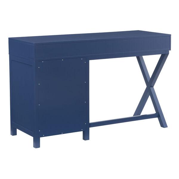 Max Navy Silver Desk, image 4
